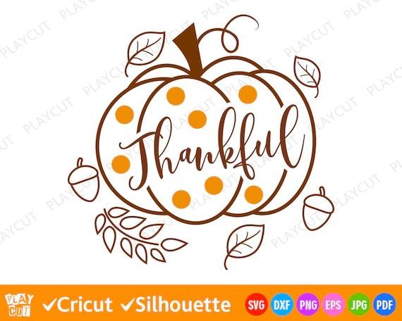 thankful pumpkin svg thanksgiving