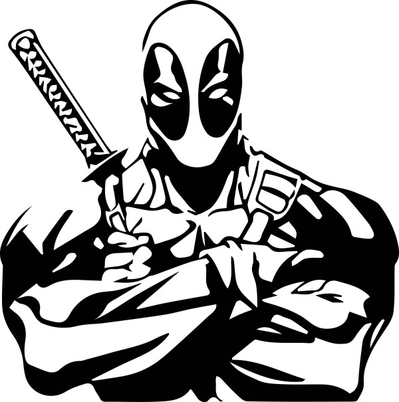 deadpool svg files silhouettes