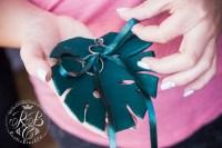 Tropical Wedding Ring Box Monstera Leaf Ring Bearer Box