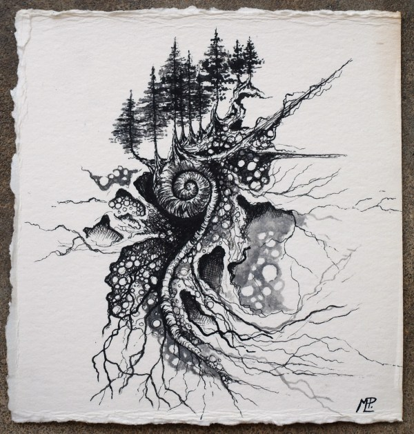 Abstract Pen and Ink Drawings Illustrations