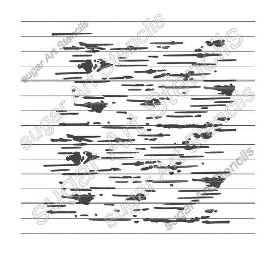 Birch bark cookie stencil pattern background BTC99 from