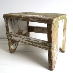 Old Fashioned Kitchen Chair Step Stool Cabinets Kings Vintage Farmhouse Wooden Rustic