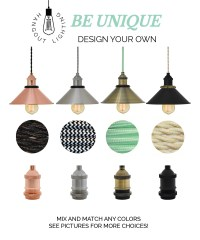 Design Your Own Shade Pendant Light Mix and Match Nickle