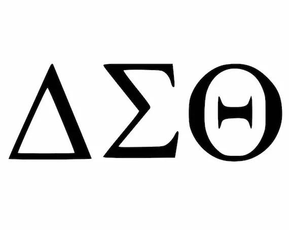 Delta Sigma Theta Greek Alphabet Decal Sorority Decals