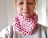 Pink cowl, infinity scarf...