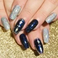 Glitter Fake Nails - Holographic Nails - Nail Art Acrylic ...