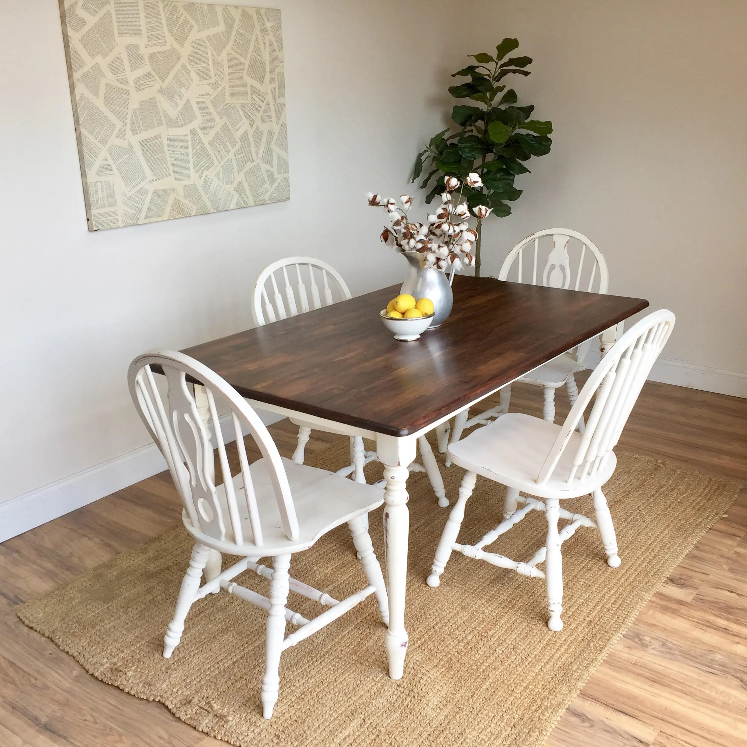 white distressed dining chairs wood rocking chair nursery kitchen table small