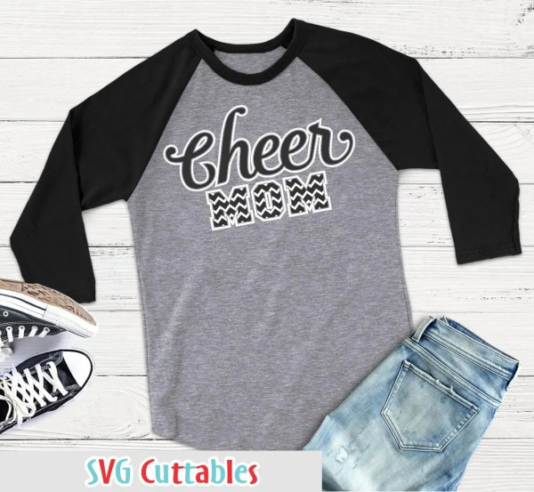 Cheer Mom Svg Dxf Eps Cut File Chevron