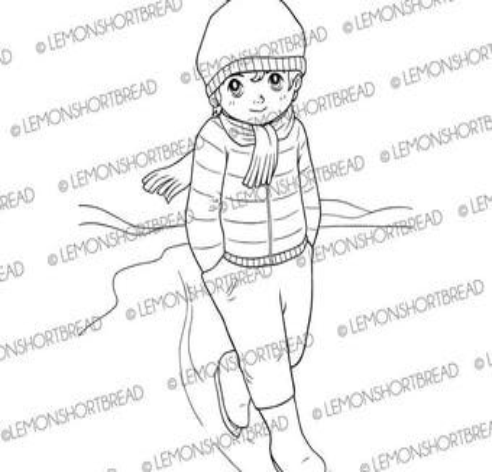 Digital Stamp Mushroom Fairy Pixie Digi Download Toadstool