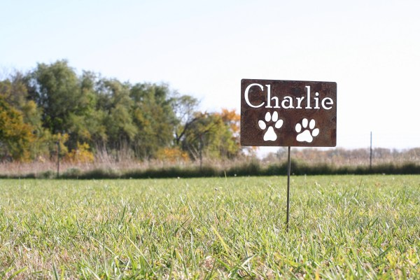 Metal Pet Memorial Sign Garden Stake