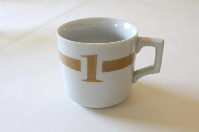 Vintage Number 1 Mug, Whi...