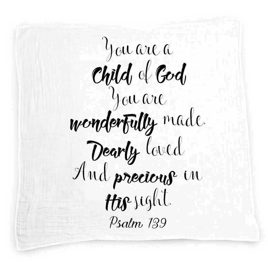 Child of God Baby Swaddle Blanket, Muslin Swaddle Wrap