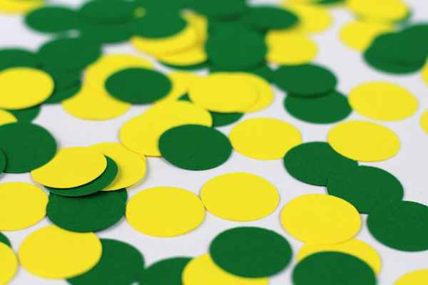 Green And Yellow Confetti Dots Tractor Birthday Party Farm