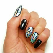 holographic gel nails fake