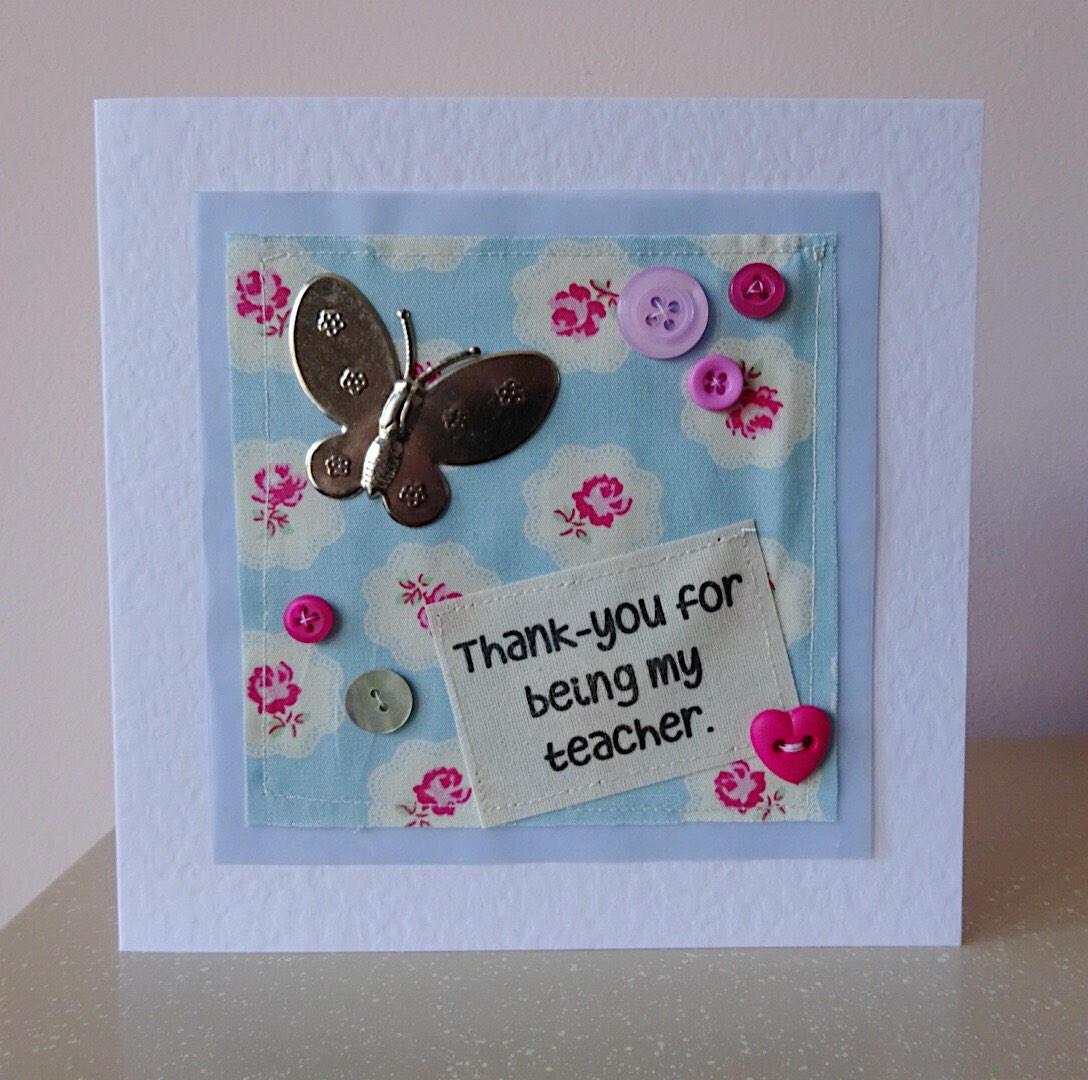 Teacher Card Teacher Thank You Thank You Card Preschool
