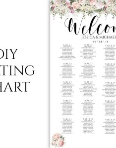 Floral seating chart wedding guest list table assignment editable also rh realdesignp