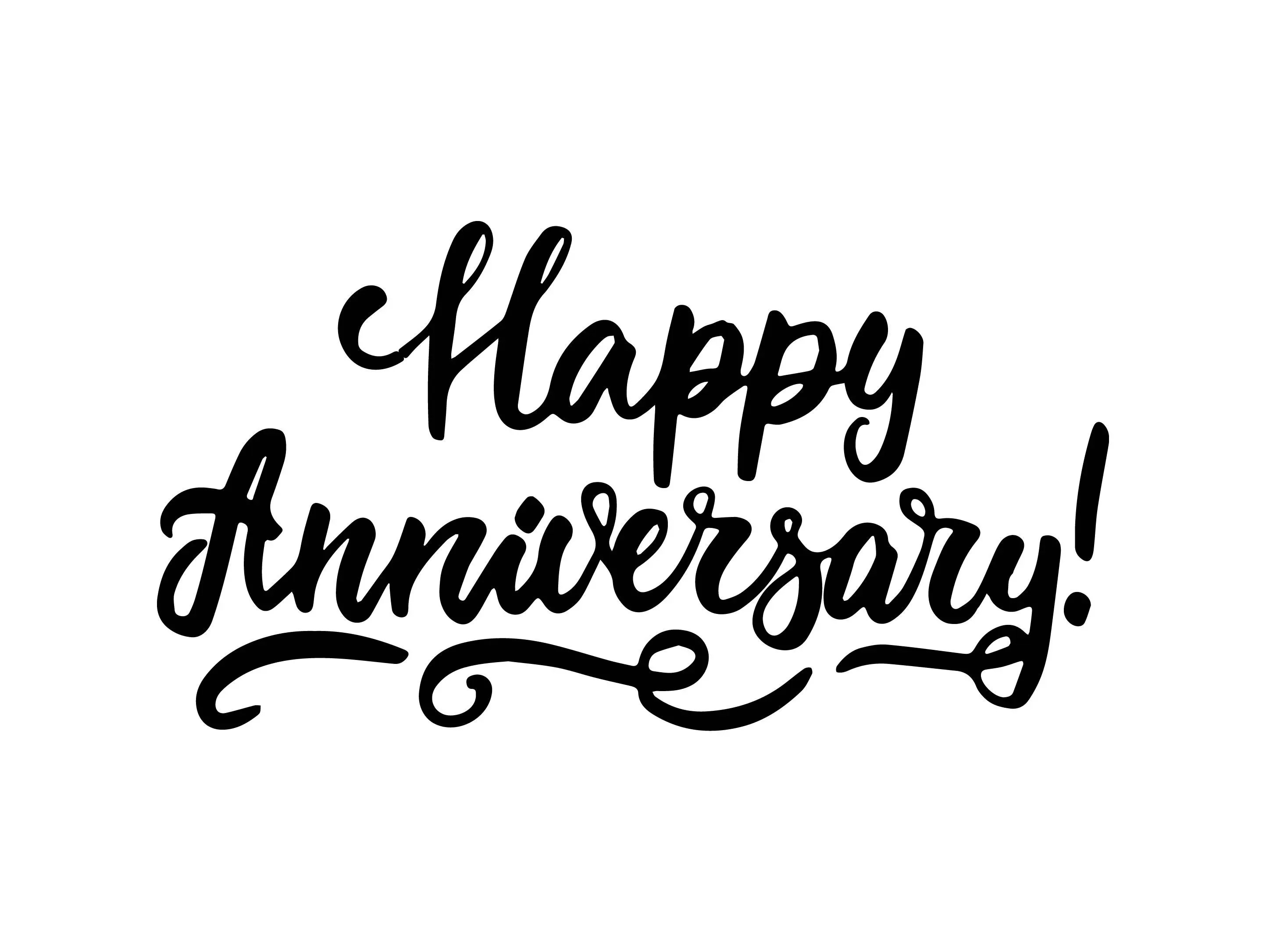 Happy Anniversary Poster Greeting Banner Text Ceremony