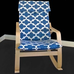 Poang Chair Covers Wicker Armchair Blue Indian Print Ikea Cover Style
