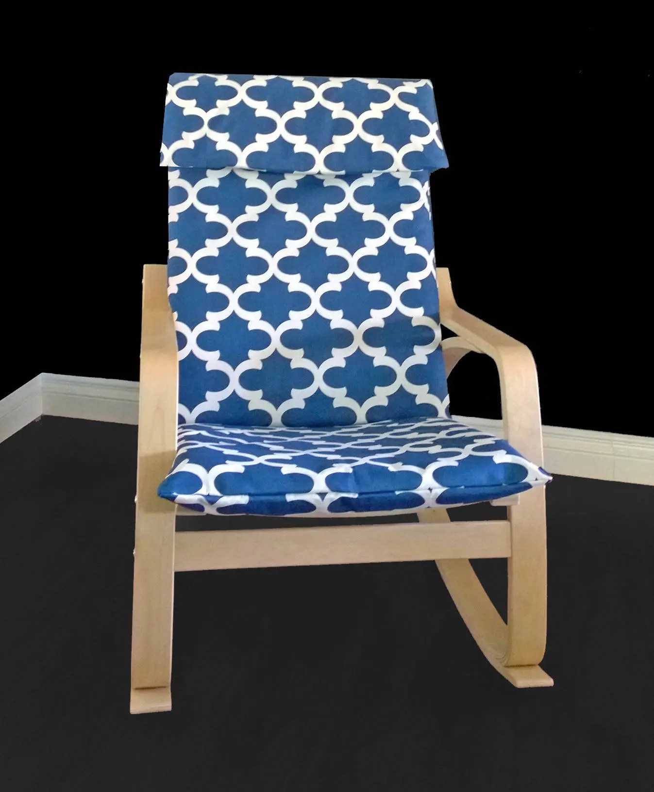 dining chair seat covers etsy vanity table blue indian print ikea poang cover style