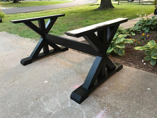 Table Base Wood Custom Built