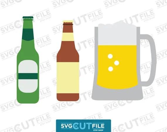 Download Beer bottle mug svg, alcoholic drink dxf, glass tumbler ...