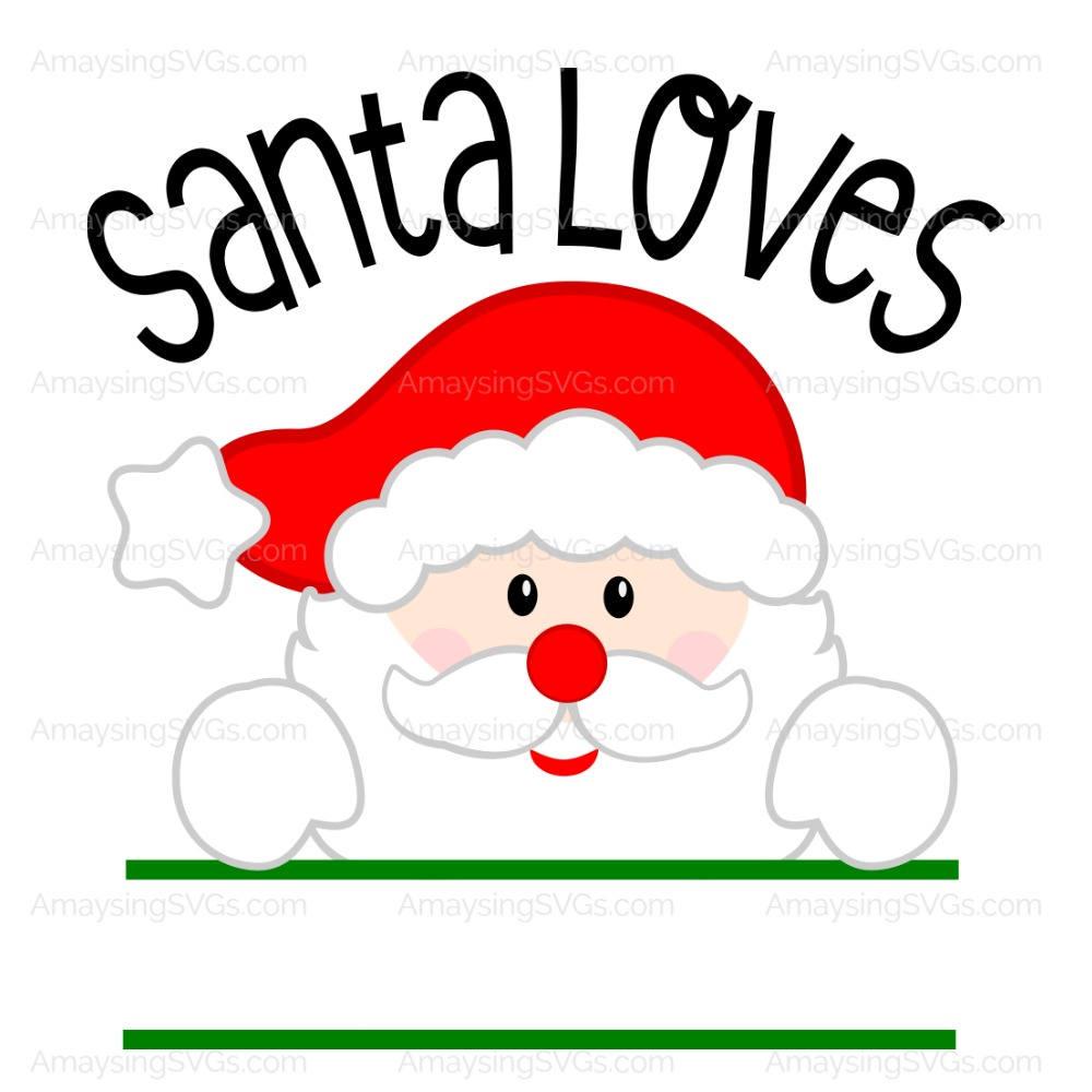 Download SVG Santa Loves Christmas SVG Santa Claus SVG Santa