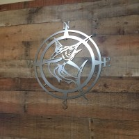 Marlin Compass Wall Decor, Marlin Compass,Wall Art ...