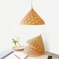 Bamboo Pendant Lamp Woven Bamboo Lamp Lamp Shade N-2