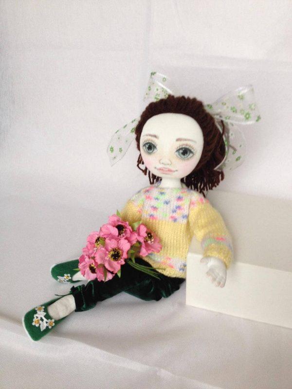 Cloth Doll Textile Art Handmade Fabric Ooak