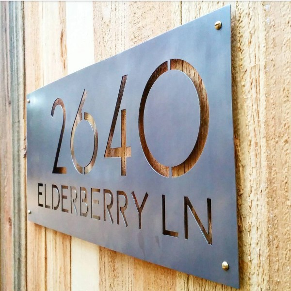 Mid Century Modern House Numbers Plaque