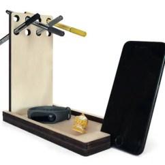 Sofa Armchair Drink Holder Caddy Rattan Corner For Garden Laser Cut Wood Phone Holderoffice Desk Accessoriescell