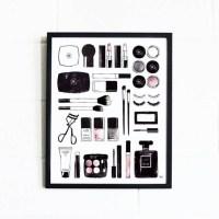 Makeup Wall Art / Makeup Vanity Decor / Makeup Wall Decor