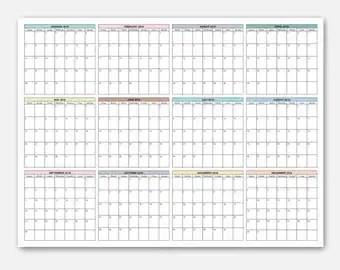 2018 Calendar Simple Calendar 2018 Year Calendar 2018