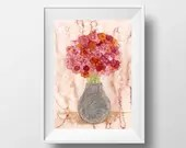 Flower Painting Art Print...