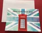 Red telephone box, Britis...