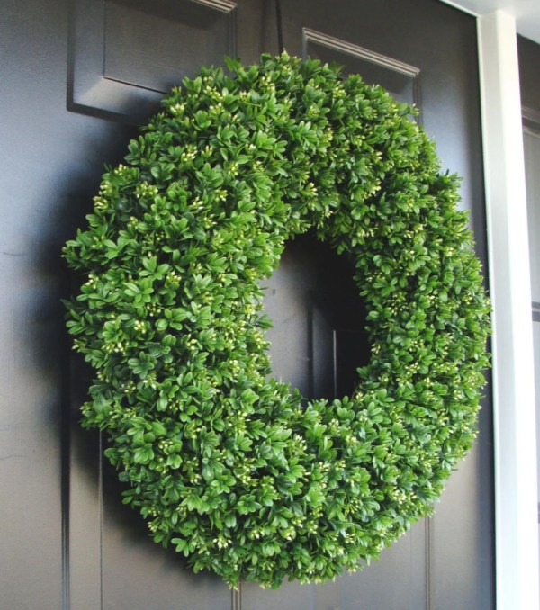 Realistic Artificial Boxwood Wreath 14 30 Sizes