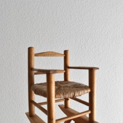 Chair Planter Stand Posture For Elderly Vintage Miniature Doll Wicker Wood Rocking Plant