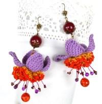 Big purple earrings | Etsy