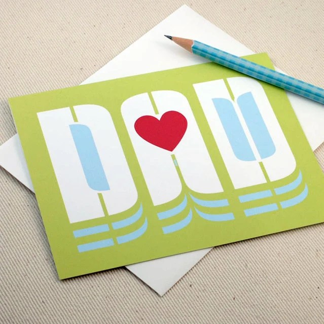 Father's Day Card - I Love You Dad - Dad Birthday Card by Oh Geez Design - ohgeezdesign