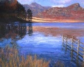 Lakeside, Wales - Fine Art Print (10 x 10) plus border