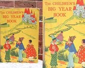 The Childrens Big Year Book, 1929, Rare Antique Childrens book