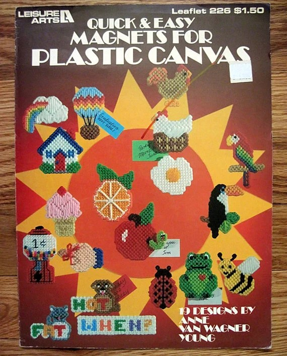Quick and Easy Magnets for Plastic Canvas Leisure Arts 226