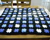 CROCHET BLANKET Handmade-  multi colour style (nannycheryl original) 709 M