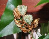 Autumn Floral Art Glass Brooch