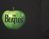 HOLIDAY SPECIAL- Upcycled Black Tee Onesie: The Beatles