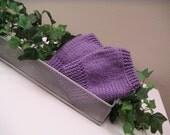 Lavender Knit Handwarmers