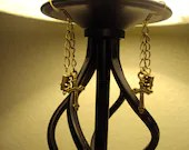 Antiqued Gold Cross Earrings