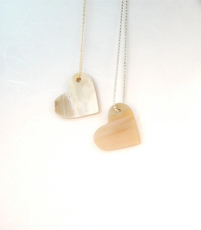 Love Golden Heart Pendant - ThePolkadotMagpie