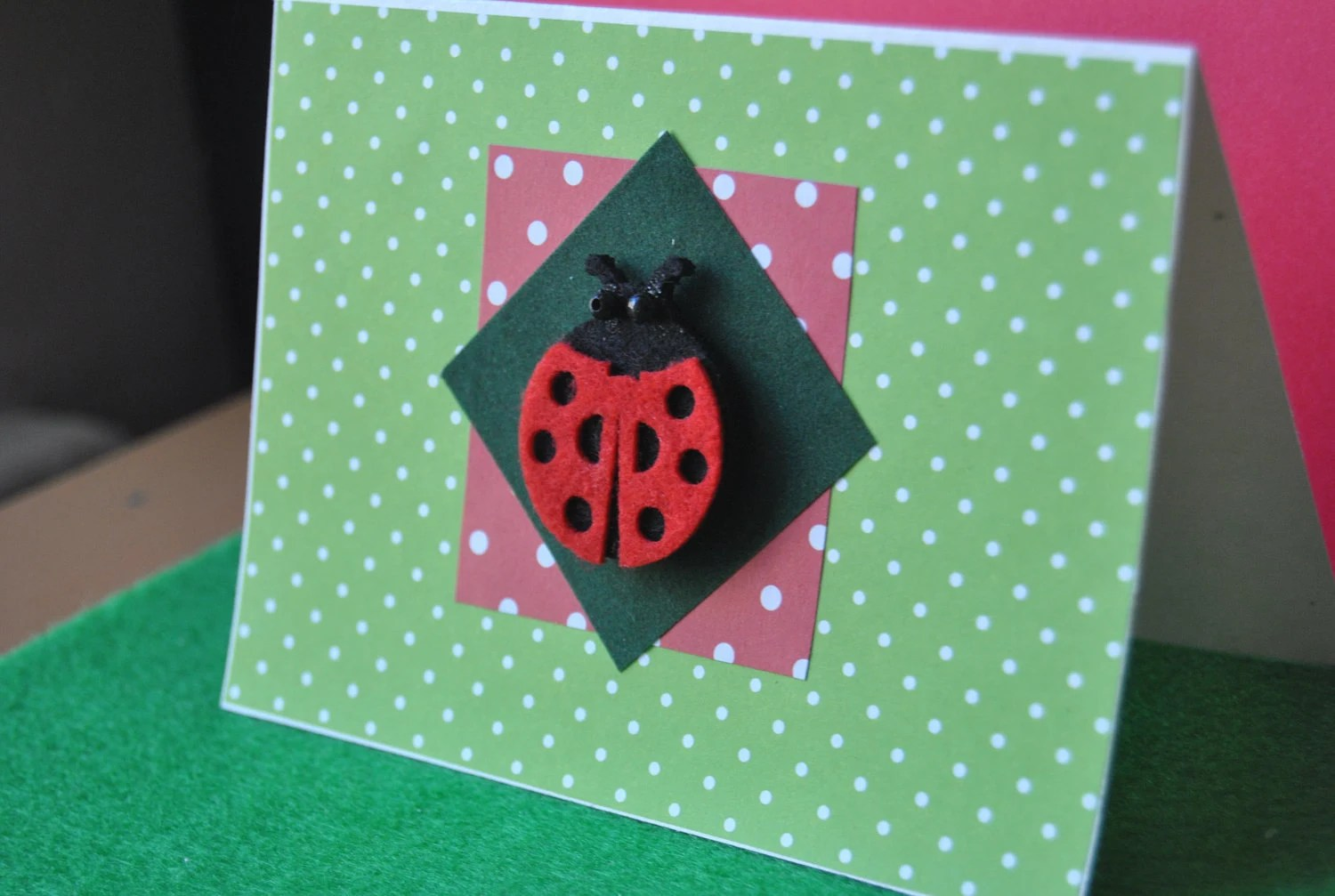 Greeting Card Lady Bug for Any Occasions