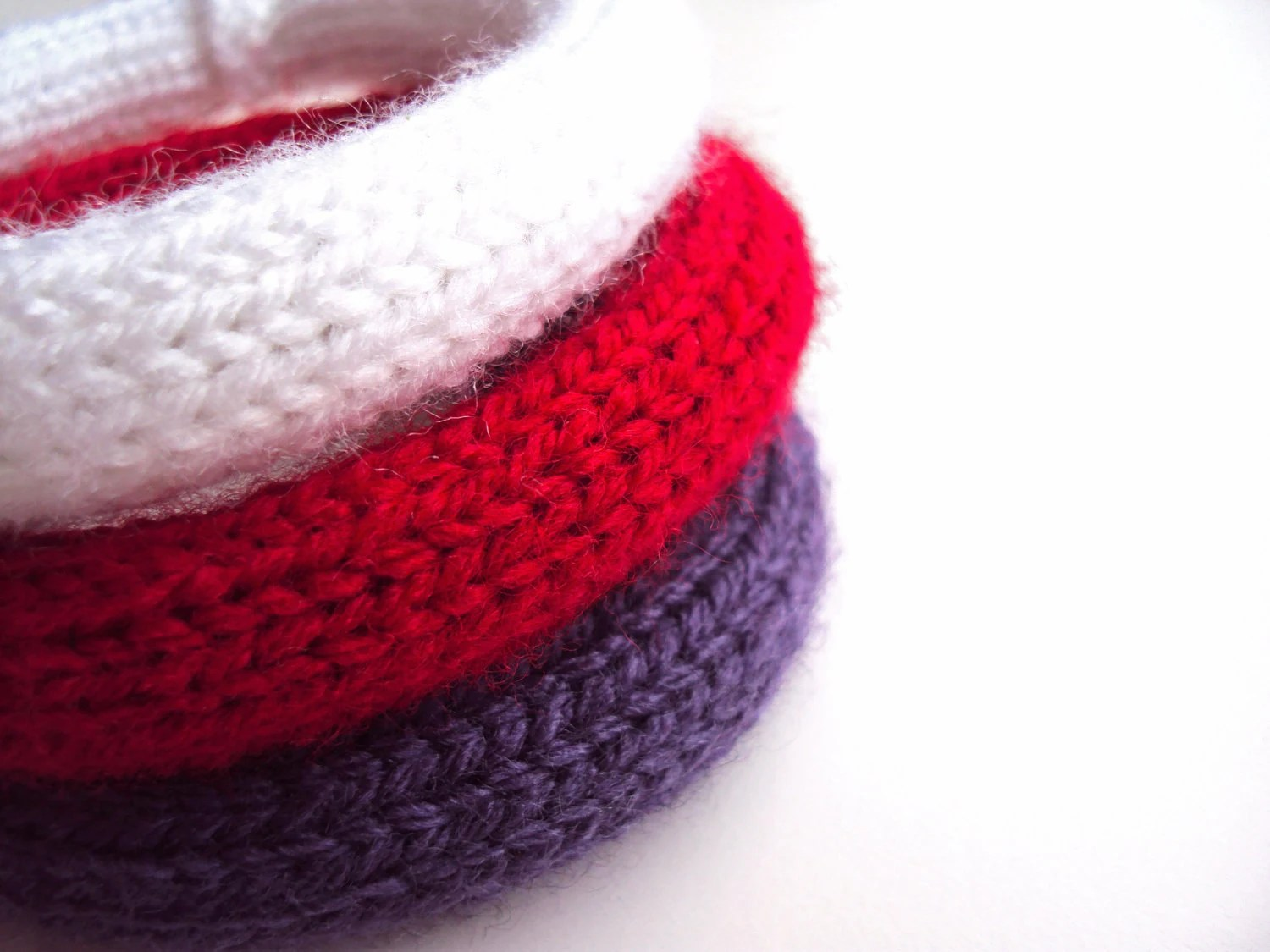 Knitted Yarn Bracelets